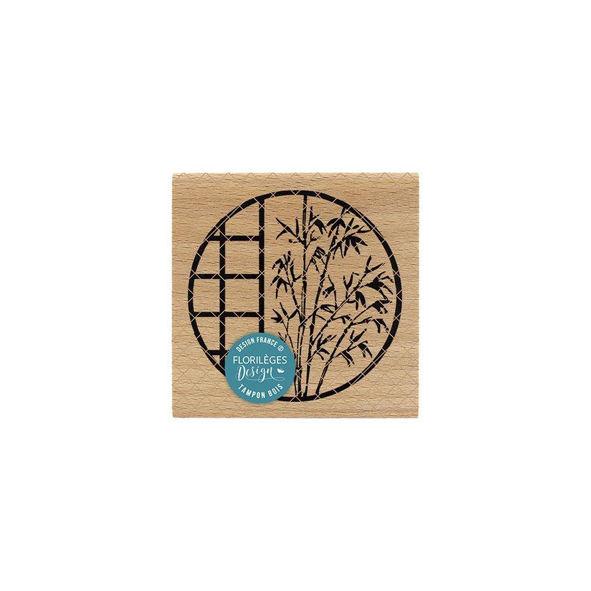 Tampon bois FENÊTRE AU BAMBOU par Florilèges Design. Scrapbooking et loisirs créatifs. Livraison rapide et cadeau dans chaque...