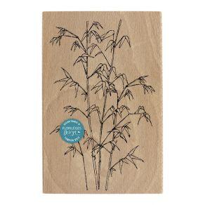 Tampon bois BAMBOUS LÉGERS par Florilèges Design. Scrapbooking et loisirs créatifs. Livraison rapide et cadeau dans chaque co...