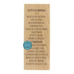 Tampon bois TEXTE GLACE À L'EAU par Florilèges Design. Scrapbooking et loisirs créatifs. Livraison rapide et cadeau dans chaq...