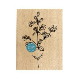 Tampon bois FLEURS DES CHAMPS par Florilèges Design. Scrapbooking et loisirs créatifs. Livraison rapide et cadeau dans chaque...