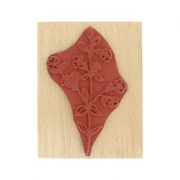 PROMO de -40% sur Tampon bois FLEURS DES CHAMPS Florilèges Design