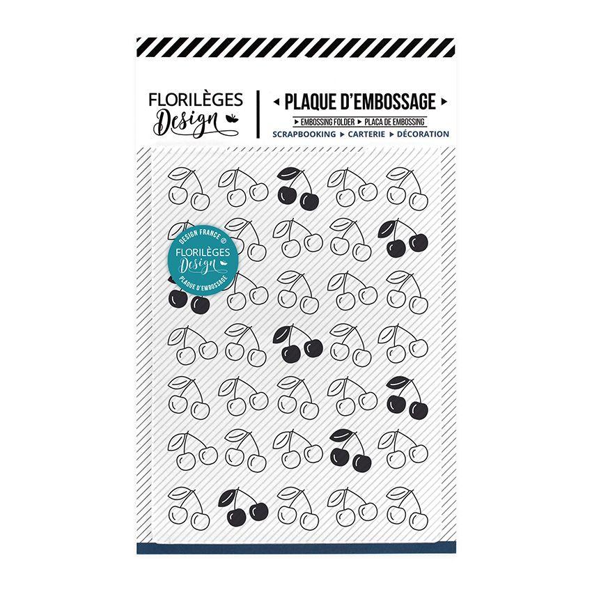 Plaque d'embossage TAPIS DE CERISES par Florilèges Design. Scrapbooking et loisirs créatifs. Livraison rapide et cadeau dans ...