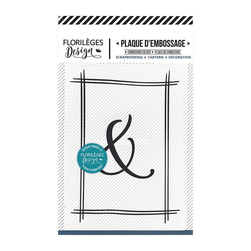 Plaque d'embossage ESPERLUETTE ENCADRÉE par Florilèges Design. Scrapbooking et loisirs créatifs. Livraison rapide et cadeau d...