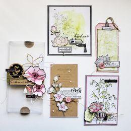 Tampon bois TOUT EST POSSIBLE par Florilèges Design. Scrapbooking et loisirs créatifs. Livraison rapide et cadeau dans chaque...